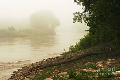 Photograph - Fog Along The Red by Steve Augustin