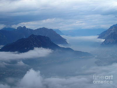 Lago Di Como Photograph - Fog And Clouds by Riccardo Mottola