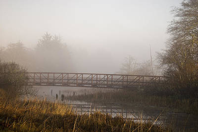 Photograph - Fog And Foot Bridge by Robert Potts