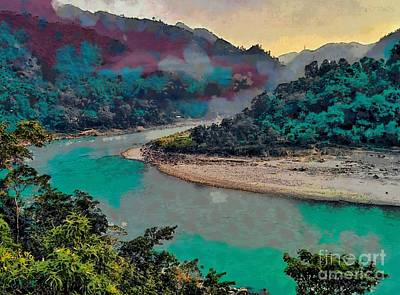 Photograph - Fog And Mist Over A River by Ashish Agarwal