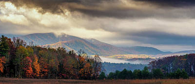 Photograph - Fog At Cades Cove, The Smokies Np by Dick Wood
