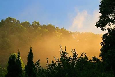 Photograph - Fog At Dusk by Kathryn Meyer