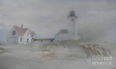 Fog At Eastern Point Art Print by Skip Willits