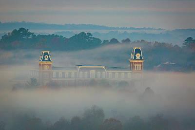 University Of Arkansas Photograph - Fog At Old Main by Damon Shaw