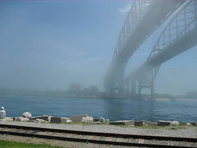 Photograph - Fog At The Bridge by Peggy King
