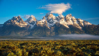 Teton Photograph - Fog At The Tetons by Darren White