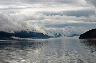 Photograph - Fog Bank In Gastineau Channel by Cathy Mahnke