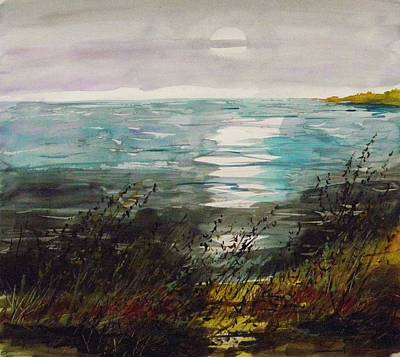 Painting - Fog Bank Moon by John Williams