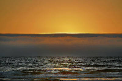 Photograph - Fog Bank Sunset 2 by Jeff Brunton