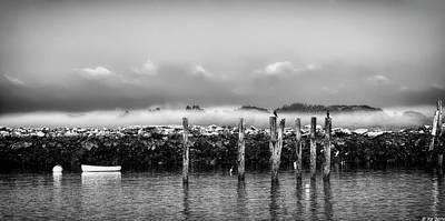 Fog Beyond The Breakwater Art Print