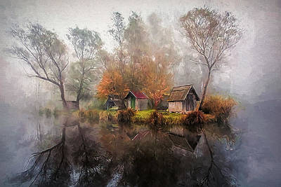 Photograph - Fog By The River by Maria Coulson