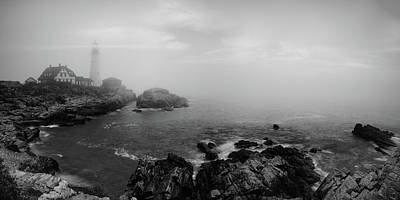 Photograph - Fog Cape Elizabeth  by Emmanuel Panagiotakis