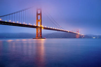 Water Reflections Photograph - Fog City Bridge by Jonathan Fleming