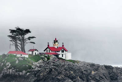 Photograph - Fog Comes Rolling In - Battery Point Lighthouse - Crescent City Ca by Christine Till