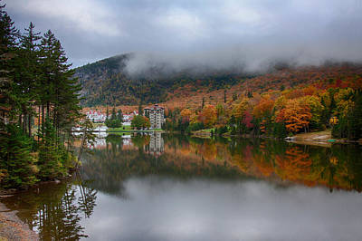 Fall Colors Photograph - Fog Coming Down Dixville Notch by Jeff Folger