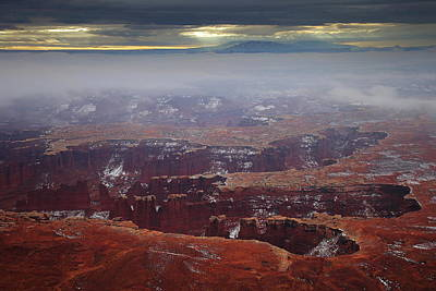 Photograph - Fog Enshrouds Grand View Point At Canyonlands National Park by Jetson Nguyen