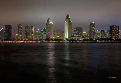 Photograph - Fog Glow Over San Diego by Tim Bryan