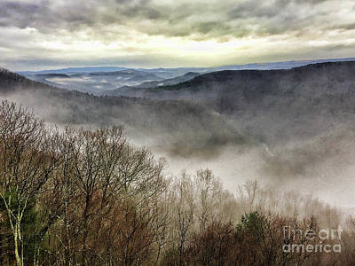 Photograph - Fog In The Bluestone Gorge - Pipestem State Park by Kerri Farley