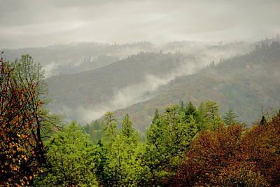 Photograph - Fog In The Hills Of Oak Run by Joyce Dickens