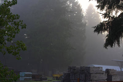 Photograph - Fog In The Lumber Yard by Jeanette C Landstrom