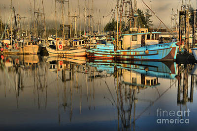 Photograph - Fog In The Ukee Harbor by Adam Jewell