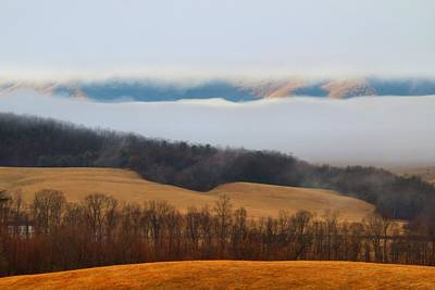 Photograph - Fog In The Valley 1 by Kathryn Meyer