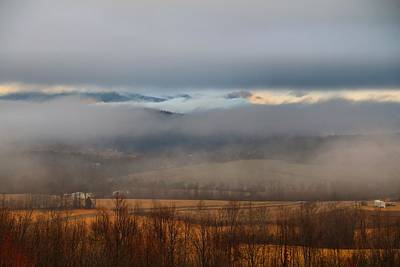 Photograph - Fog In The Valley 2 by Kathryn Meyer