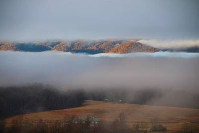 Photograph - Fog In The Valley 3 by Kathryn Meyer