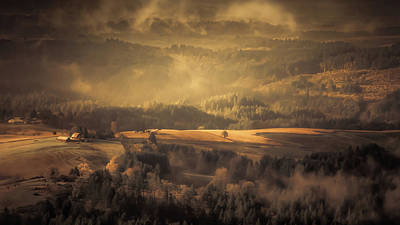 Photograph - Fog In The Valley by Don Schwartz