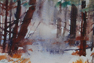 Painting - Fog In The Woods by Len Stomski