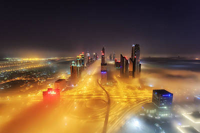 Dubai Photograph - Fog Invasion by Mohammad Rustam