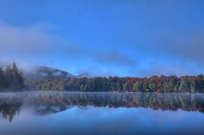 Art Print featuring the photograph Fog Lifting On West Lake by David Patterson