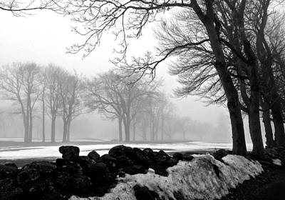 Photograph - Fog Melting Snow In Fairfield Connecticut by Polly Castor