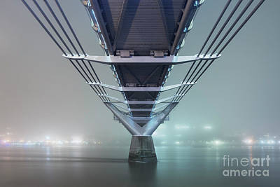 Millennium Wall Art - Photograph - Fog - Millennium Bridge by Rod McLean