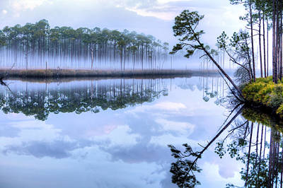 Fog On New River Art Print by JC Findley