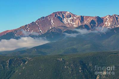 Photograph - Fog On Pikes Peak by Steve Krull