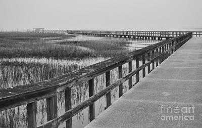Susan Jones Photograph - Fog On Port Royal Boardwalk by Susan Jones