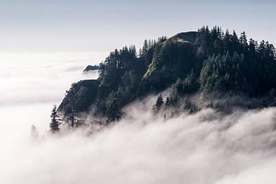 Photograph - Fog On Saddle Mountain by Robert Potts