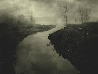Photograph - Fog On Smally Lake by Michael L Kimble