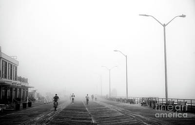 Photograph - Fog On The Boardwalk by John Rizzuto