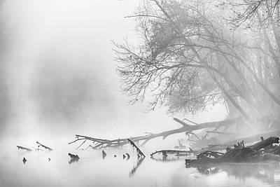 Photograph - Fog On The Caney Fork by David Morel