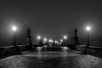 Photograph - Fog On The Charles Bridge - Prague by Stuart Litoff
