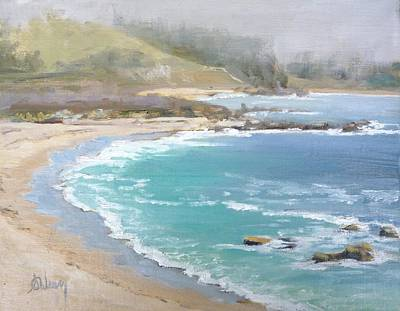 Mystical Landscape Painting - Fog On The Coast by Sharon Weaver