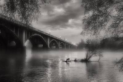 Richland County Photograph - Fog On The Congaree by Bruce Willhoit