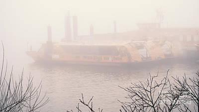 Comedian Drawings - Fog on the Elbe by Marina Usmanskaya