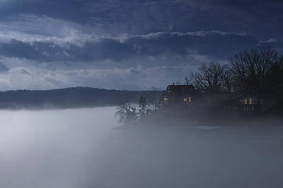 Fog On The Lake - Dawn At The Lake Of The Ozarks, Missouri Art Print by Mitch Spence