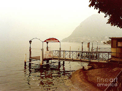 Photograph - Fog On The Lake - Lugano, Switzerland by Merton Allen