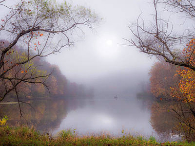Photograph - Fog On The Lake by Timothy Harris