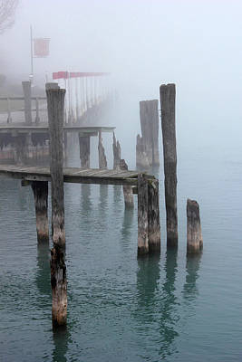 Photograph - Fog On The River 25 by Mary Bedy