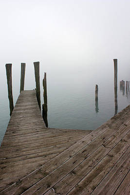 Photograph - Fog On The River 26 by Mary Bedy